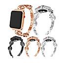 abordables Bracelets Apple Watch-Bracelet de Montre  pour Apple Watch Series 4/3/2/1 Apple Boucle Moderne / Design de bijoux Métallique Sangle de Poignet