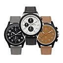 ieftine Colier la Modă-Bărbați Ceas de Mână Quartz Piele PU Matlasată Negru / Maro / Gri Ceas Casual Analog Modă - Negru Gri Maro