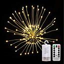 hesapli LED Spot Işıkları-ZDM® 0.2m Işık Setleri 120 LED'ler SMD 0603 1 13 Tuş Uzaktan Kumanda Sıcak Beyaz Su Geçirmez / Yeni Dizayn / Dekorotif AA Bataryalar Powered 1set / IP65