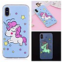abordables Coques d'iPhone-Coque Pour Apple iPhone XR / iPhone XS Max Phosphorescent / Motif Coque Licorne Flexible TPU pour iPhone XS / iPhone XR / iPhone XS Max