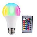Χαμηλού Κόστους Λαμπτήρες LED με νήμα πυράκτωσης-HRY 5 W LED Έξυπνες Λάμπες 200-500 lm E26 / E27 A60(A19) 3 LED χάντρες SMD 5050 Με ροοστάτη Τηλεχειριζόμενο Διακοσμητικό RGBW 85-265 V, 1pc / 1 τμχ / RoHs