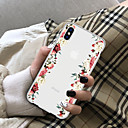 ieftine Carcase iPhone-Maska Pentru Apple iPhone X / iPhone 8 Plus / iPhone 8 Transparent Capac Spate Floare Moale TPU