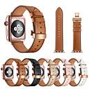 رخيصةأون أساور ساعات هواتف أبل-حزام إلى أبل ووتش سلسلة 5/4/3/2/1 Apple فراشة مشبك معدني ل جلد طبيعي شريط المعصم