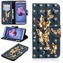 halpa Samsung suojakalvot-Etui Käyttötarkoitus Huawei P20 lite / Huawei P Smart Plus Lomapkko / Korttikotelo / Tuella Suojakuori Perhonen Kova PU-nahka varten Huawei P20 / Huawei P20 Pro / Huawei P20 lite