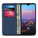 cheap Cases / Covers for Huawei-Case For Huawei P20 Pro / P20 lite Card Holder / with Stand Full Body Cases Solid Colored Hard Genuine Leather for Huawei P20 / Huawei P20 Pro / Huawei P20 lite