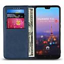 Χαμηλού Κόστους Θήκες / Καλύμματα για Huawei-tok Για Huawei P20 Pro / P20 lite Θήκη καρτών / με βάση στήριξης Πλήρης Θήκη Μονόχρωμο Σκληρή γνήσιο δέρμα για Huawei P20 / Huawei P20 Pro / Huawei P20 lite