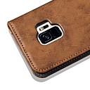 رخيصةأون حافظات / جرابات هواتف جالكسي S-غطاء من أجل Samsung Galaxy S9 / S9 Plus / S8 Plus محفظة / حامل البطاقات / مع حامل غطاء كامل للجسم لون سادة / قرميدة قاسي جلد PU