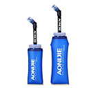 رخيصةأون مطبخ التخييم-0.6 L زجاجة الرياضة خفة الوزن قابل للتعديل مرن إلى عن على TPU في الهواء الطلق صيد السمك تخييم ركض أزرق