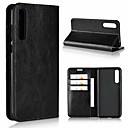 cheap Cases / Covers for Huawei-Case For Huawei P20 / P20 Pro Wallet / Shockproof / with Stand Full Body Cases Solid Colored Hard Genuine Leather for Huawei P20 / Huawei P20 Pro / Huawei P20 lite / P10 Plus / P10 Lite / P10
