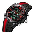 levne Pánské-Pánské Sportovní hodinky Digitální hodinky japonština Japonské Quartz Silikon Červená / žlutá / Tyrkysová 30 m LCD Hodinky s dvojitým časem Svítící Analog - Digitál Na běžné nošení Módní - Žlut
