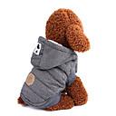 hesapli Köpek Giyim ve Aksesuarları-Köpekler Paltolar Köpek Giyimi Solid / Klasik / İngiliz Gri / Mavi Pamuk Kostüm Evcil hayvanlar için Erkek Sıcak Tutma