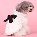 hesapli Köpek Giyim ve Aksesuarları-Köpekler / Kediler Paltolar Köpek Giyimi Solid / Fiyonk Düğüm Bej Peluş Kostüm Evcil hayvanlar için Bayan Şık / Fiyonklu