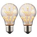 olcso LED gömbbúrás izzók-2w e27 edison led izzó a19 retro izzólámpa ac 220v - 240v bar karácsonyi party éjszakai hangulat dekoráció (2 db)