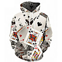 cheap Men's Hoodies & Sweatshirts-Men's Plus Size Active / Street chic Long Sleeve Loose Hoodie - 3D Print Hooded White 4XL / Fall / Winter
