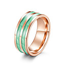 cheap Smart Plug-Women's Classic Band Ring Ring Steel Stainless Ladies Artistic Unique Design Trendy Ring Jewelry Purple / Red / Green For Evening Party Valentine 6 / 7 / 8 / 9 / 10