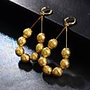 abordables Collar Hombre-Mujer Cuentas Pendientes colgantes Aretes damas Diseño Único Bohemio Boho Joyas Amarillo Para Boda Fiesta 1 Par