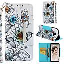 رخيصةأون إكسسوارات سامسونج-غطاء من أجل Samsung Galaxy A6 (2018) / A6+ (2018) / Galaxy A7(2018) محفظة / حامل البطاقات / مع حامل غطاء كامل للجسم زهور قاسي جلد PU