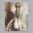 ieftine Tije Pescuit-Hang-pictate pictură în ulei Pictat manual - Abstract Oameni Clasic Modern Fără a cadru interior / Canvas laminat