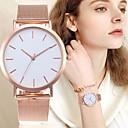 ieftine Ceasuri Damă-Pentru femei Ceas de Mână ceas de aur Quartz Oțel inoxidabil Negru / Argint / Auriu Model nou Ceas Casual Analog femei Casual minimalist - Argintiu Trandafiriu Negru / Alb Un an Durată de Via