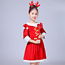 cheap Xbox 360 Accessories-Santa Suit Cosplay Costume Girls' Kid's Christmas Christmas New Year Festival / Holiday Outfits Red Holiday / Wool