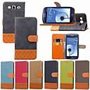 رخيصةأون حافظات / جرابات هواتف جالكسي S-غطاء من أجل Samsung Galaxy S9 / S9 Plus / S8 Plus حامل البطاقات / ضد الصدمات / مع حامل غطاء كامل للجسم لون سادة / نموذج هندسي قاسي منسوجات