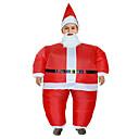 ieftine Decorațiuni Mobil-Costume Cosplay Santa Clothe Adolescent Adulți Bărbați Crăciun Crăciun An Nou Festival / Sărbătoare Material cu burete Lenjerie Roșu-aprins Costume de Carnaval Vacanță