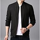 cheap Cups & Glasses-Men's Daily Regular Jacket, Geometric Stand Long Sleeve Polyester Green / Black / Navy Blue XL / XXL / XXXL