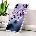 olcso Vezeték nélküli töltők-Case Kompatibilitás Apple iPhone XR Porálló / Ultra-vékeny / Minta Fekete tok Virág Puha TPU mert iPhone XR