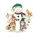 رخيصةأون أغطية أيفون-نسائي دبابيس 3D سيدات حلو حجر الراين بروش مجوهرات ذهبي من أجل عيد الميلاد