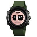 저렴한 남성용 시계-SKMEI 남성용 스포츠 시계 손목 시계 디지털 퀼트 인조 가죽 블랙 / 그린 50 m 방수 창조적 뉴 디자인 디지털 사치 패션 - 로즈 골드 블랙 / 실버 블랙 / 로즈 골드 1 년 배터리 수명