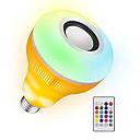 voordelige Slimme LED-lampen-YWXLIGHT® 1pc 12 W 1050-1150 lm B22 / E26 / E27 Slimme LED-lampen 48 LED-kralen SMD Dimbaar / Geluidsgeactiveerd / Op afstand bedienbaar RGB 85-265 V