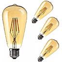cheap Makeup & Nail Care-KWB LED Globe Bulbs 2200 lm E26 / E27 ST64 4 LED Beads COB Dimmable Decorative Warm White 85-265 V, 4pcs / 4 pcs / RoHS