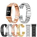 저렴한 Fitbit 밴드 시계-시계 밴드 용 Fitbit Charge 3 핏빗 스포츠 밴드 스테인레스 스틸 손목 스트랩