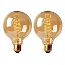 Χαμηλού Κόστους Λαμπτήρες πυράκτωσης-2pcs 40 W E26 / E27 G95 Θερμό Λευκό 2200-2700 k Ρετρό / Με ροοστάτη / Διακοσμητικό Λαμπτήρας πυρακτώσεως Vintage Edison 220-240 V