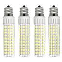 hesapli Dekorasyon Etiketleri-4adet 8.5 W 1105 lm E17 LED Mısır Işıklar T 125 LED Boncuklar SMD 2835 Kısılabilir Sıcak Beyaz / Serin Beyaz 220 V