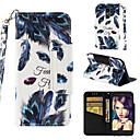 رخيصةأون أغطية أيفون-غطاء من أجل LG LG K10 2018 محفظة / حامل البطاقات / قلب غطاء كامل للجسم الريش قاسي جلد PU