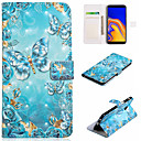 cheap Galaxy J Series Cases / Covers-Case For Samsung Galaxy J7 (2017) / J5 (2017) Wallet / Card Holder / with Stand Full Body Cases Butterfly Hard PU Leather for J7 (2017) / J7 (2016) / J6 (2018)