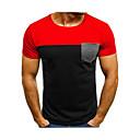 billige Herreskjorter-Rund hals Herre - Farveblok T-shirt Sort M / Kortærmet