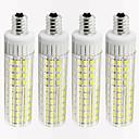 hesapli Dekorasyon Etiketleri-4adet 8.5 W 1105 lm E12 LED Mısır Işıklar T 125 LED Boncuklar SMD 2835 Kısılabilir Sıcak Beyaz / Serin Beyaz 220 V