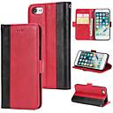 levne iPhone pouzdra-Carcasă Pro Apple iPhone 7 Peněženka / Pouzdro na karty / Flip Zadní kryt Jednobarevné Pevné PU kůže pro iPhone 7