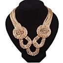 preiswerte Kragen-Damen Halskette Geflochten Chinesischer Knoten damas Stilvoll Hyperbel Klumpig Aleación Gold 45+5 cm Modische Halsketten Schmuck 1pc Für Alltag
