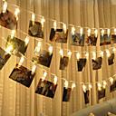 رخيصةأون مصابيح ليد مبتكرة-BRELONG® 3M أضواء سلسلة 20 المصابيح مصلحة الارصاد الجوية 0603 أبيض دافئ ضد الماء / إبداعي / حزب بطاريات آ بالطاقة 1PC