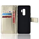 Недорогие Чехлы и кейсы для Galaxy S-ASLING Кейс для Назначение SSamsung Galaxy S9 Plus / S9 Кошелек / Бумажник для карт / со стендом Чехол Однотонный Мягкий Кожа PU для S9 / S9 Plus