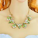billige Armbånd-Dame Blomster Uttalelse Halskjeder Mote Smuk Lys Grønn 44.5 cm Halskjeder Smykker 1pc Til Daglig