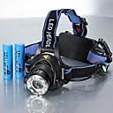 ieftine lanterne-Frontale Becul farurilor 1200 lm LED LED 1 emițători 3 Mod Zbor cu Baterii Rezistent la apă Zoomable Ajustabil Camping / Cățărare / Speologie Utilizare Zilnică Ciclism