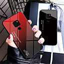 זול כבלים ומתאמים-מגן עבור Huawei Huawei Mate 20 Lite / Huawei Mate 20 Pro מראה כיסוי אחורי צבע הדרגתי קשיח זכוכית משוריינת ל Mate 10 / Mate 10 pro / Mate 10 lite