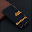 رخيصةأون حافظات لابتوب-غطاء من أجل Samsung Galaxy S9 / S9 Plus / Galaxy S10 محفظة / حامل البطاقات / مع حامل غطاء كامل للجسم لون سادة قاسي جلد PU