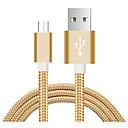 levne Kabely a adaptéry-Micro USB Adaptér kabelu USB Plochý / Pletený Kabel Pro Xiaomi 100 cm Pro Nylon