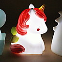 cheap Home Decoration-1pc Unicorn LED Night Light White Button Battery Powered For Children / Creative <5 V
