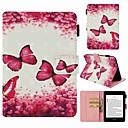 رخيصةأون سجادات-غطاء من أجل Amazon Kindle PaperWhite 4 حامل البطاقات / ضد الصدمات / نموذج غطاء كامل للجسم فراشة قاسي جلد PU